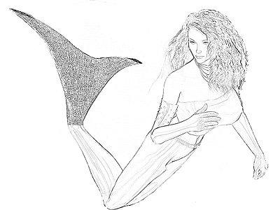 drawings of mermaids