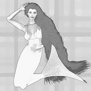 drawing of mermaid 1